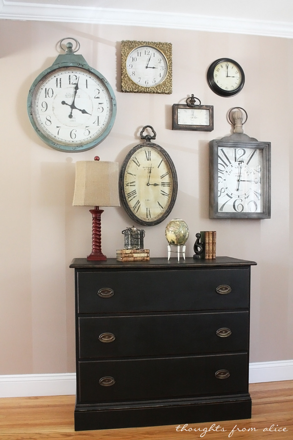 Clock-Gallery-Wall-ASCP-Dresser-Makeover-1
