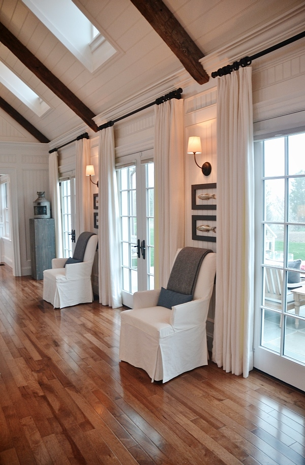 Frame Glass Doors with Curtains | Liz Marie Blog
