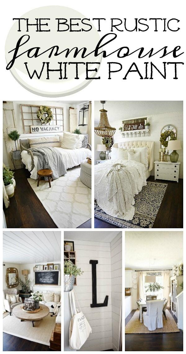 The best rustic farmhouse white paint liz marie bloglovin for Farmhouse living room paint colors