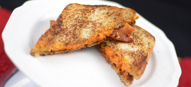Grilled Pimiento Cheese Sandwich with Bacon