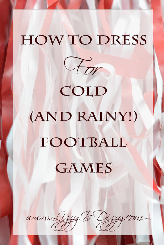 How to Dress for Cold and Rainy football games