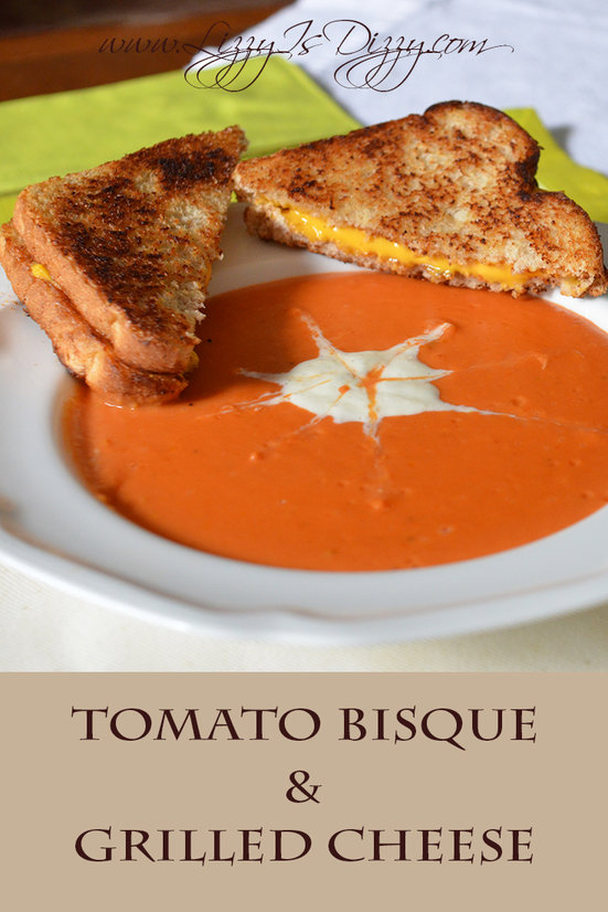 Need some comfort food?! This warm and filling tomato bisque is perfect with a melty grilled cheese.