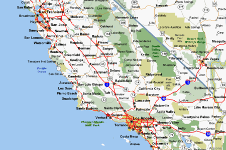 Map Of Northern California Coast - Northern california cities map