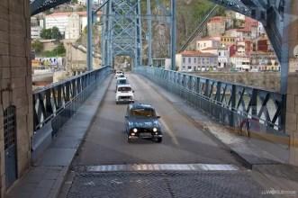 Cars Cross Bridge Porto