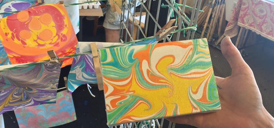 Paper Marbling Workshop at The Loaded Brush