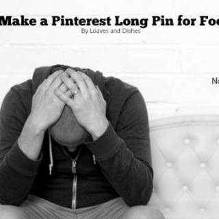 How to Make a Pinterest Long Pin Using PicMonkey for Food Blogs