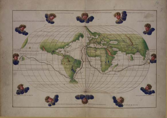 General Overview  Library of Congress Hispanic and Portuguese     Thumbnail image of World Map with Route of Magellan