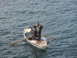 Vendedores en barcas