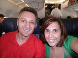En el avión hacia el Sudeste Asiático