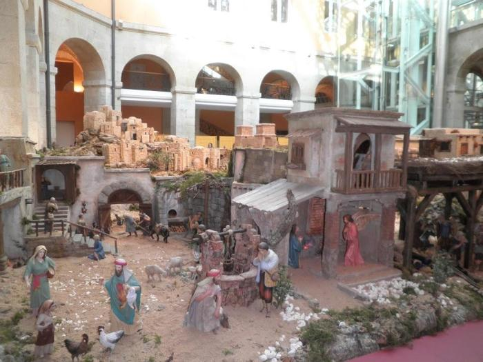 Belén de la Real Casa de Correos en la Puerta del Sol en Madrid