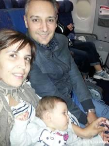 Bebé en el avión