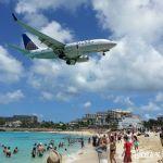 Maho Beach en la isla de Sint Maarten