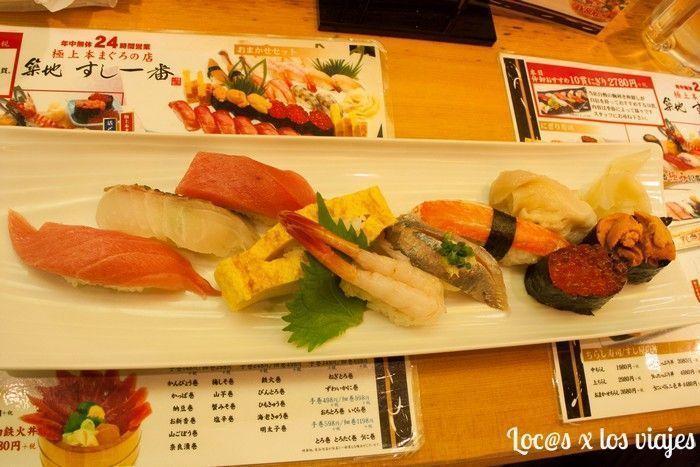 Mercado de Pescado Tsukiji: sushi