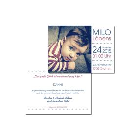 Danksagung Milo