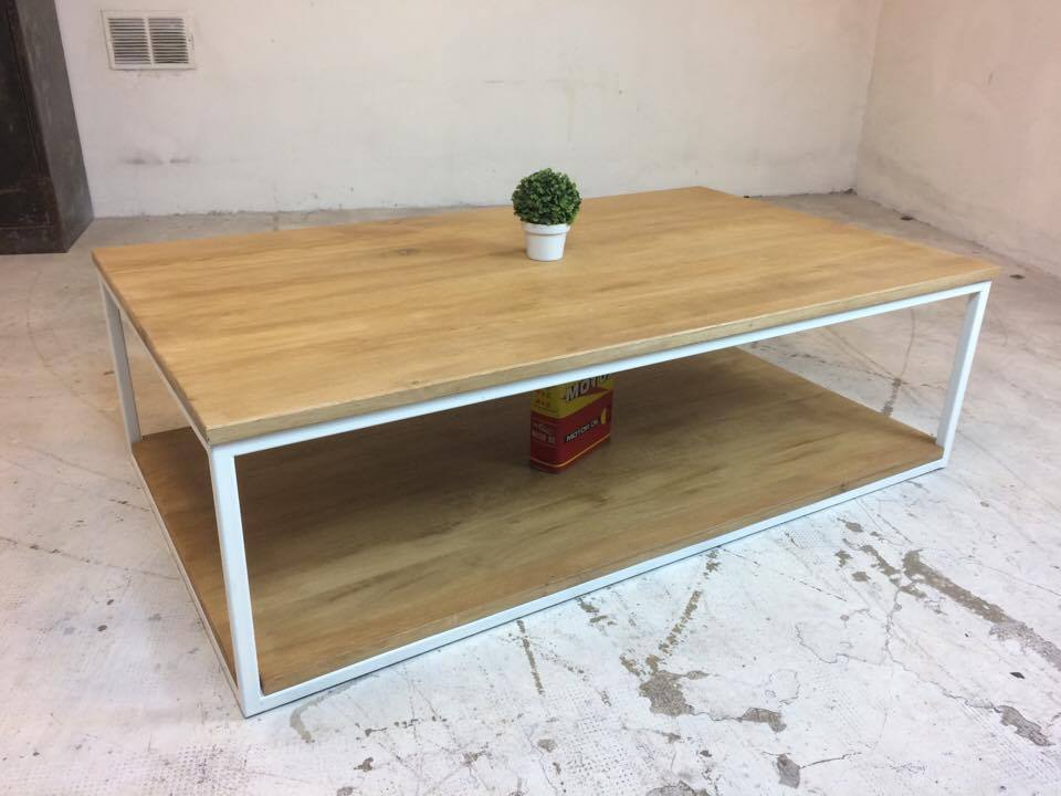 TABLE BASSE BLANC CHENE