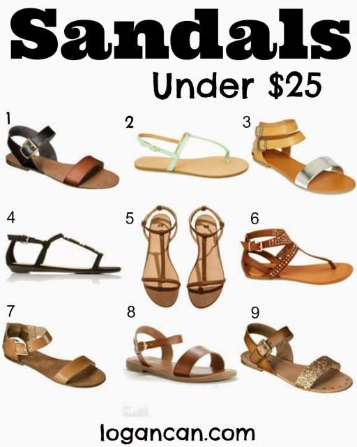 Sandals Under 25