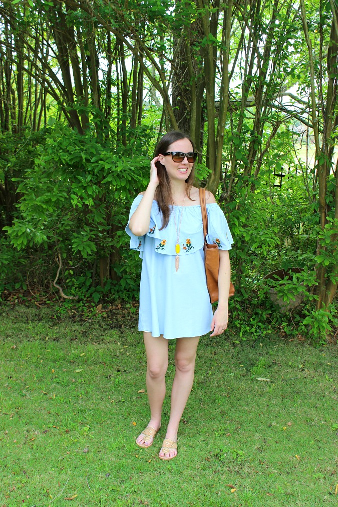 New Dresses Blue Off Shoulder Dress