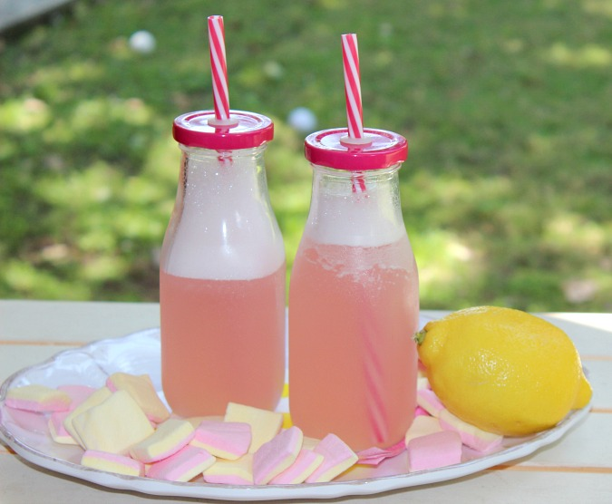 Kid-friendly, Frozen Pink Lemonade, shared by Logan Can at The Chicken Chick's Clever Chicks Blog Hop