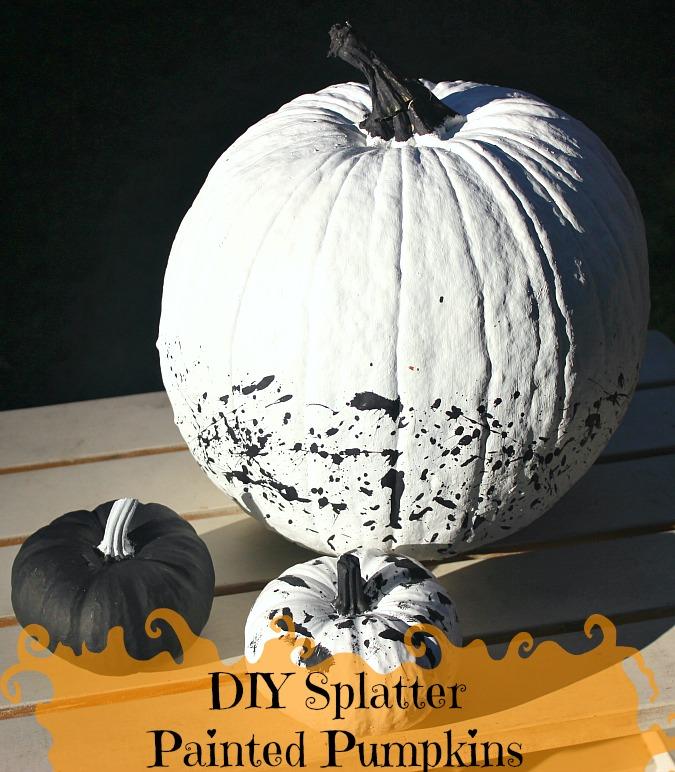 DIY Splatter Painted Pumpkins