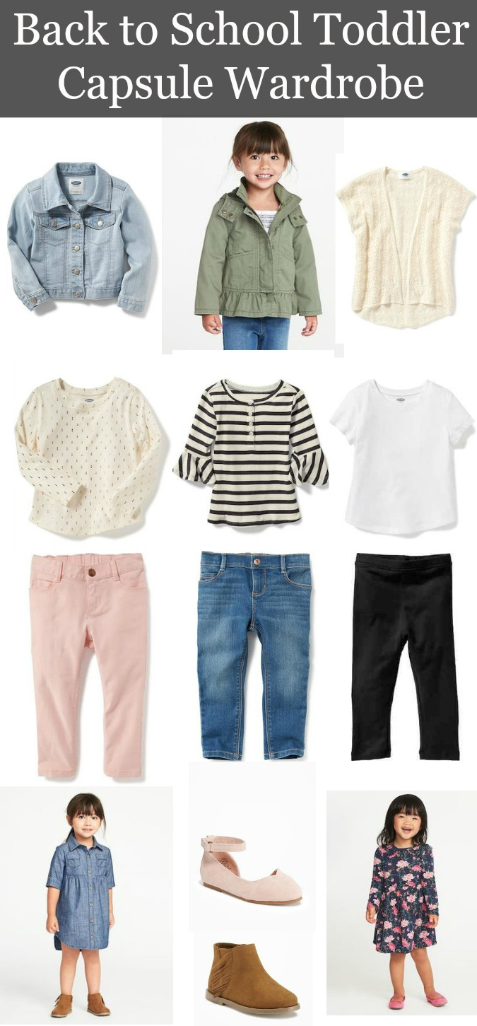 Back to School Toddler Capsule Wardrobe