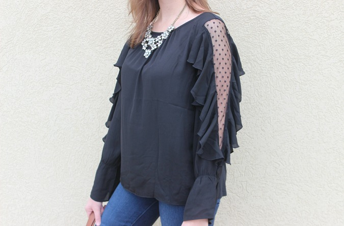Black Blouse LOFT Shirt