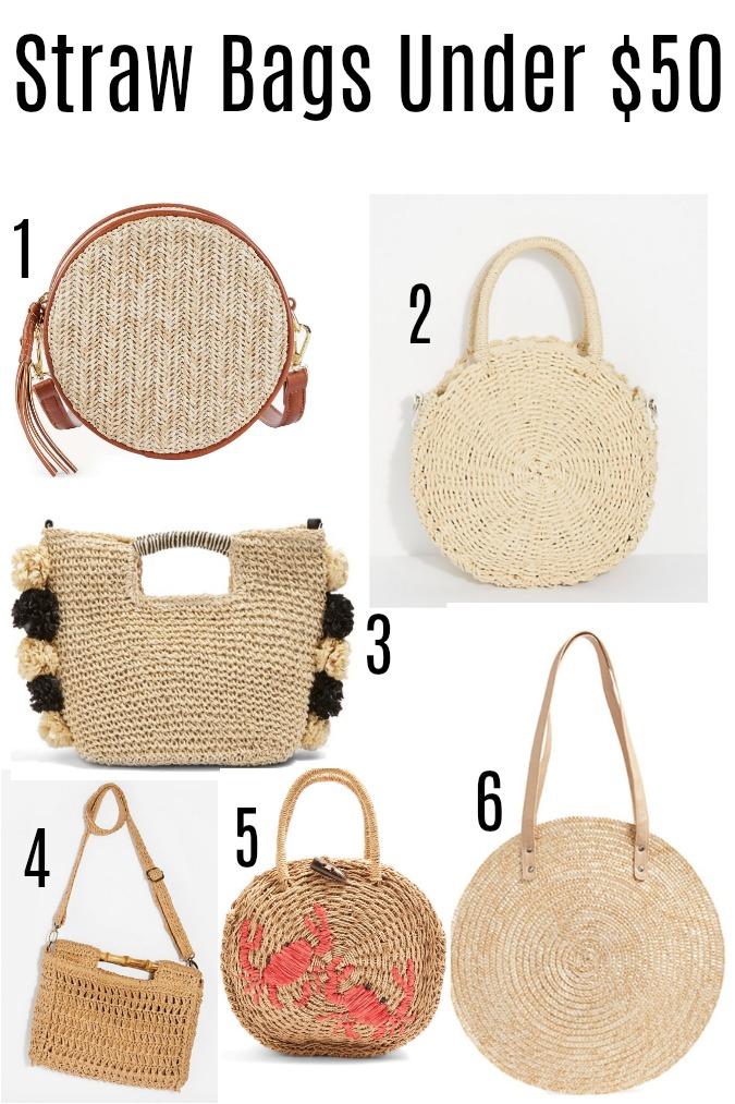 Straw Bag Under $50