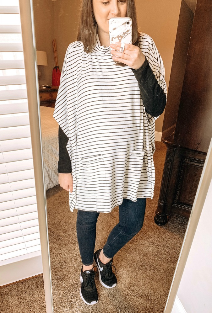 LOFT Try On Poncho