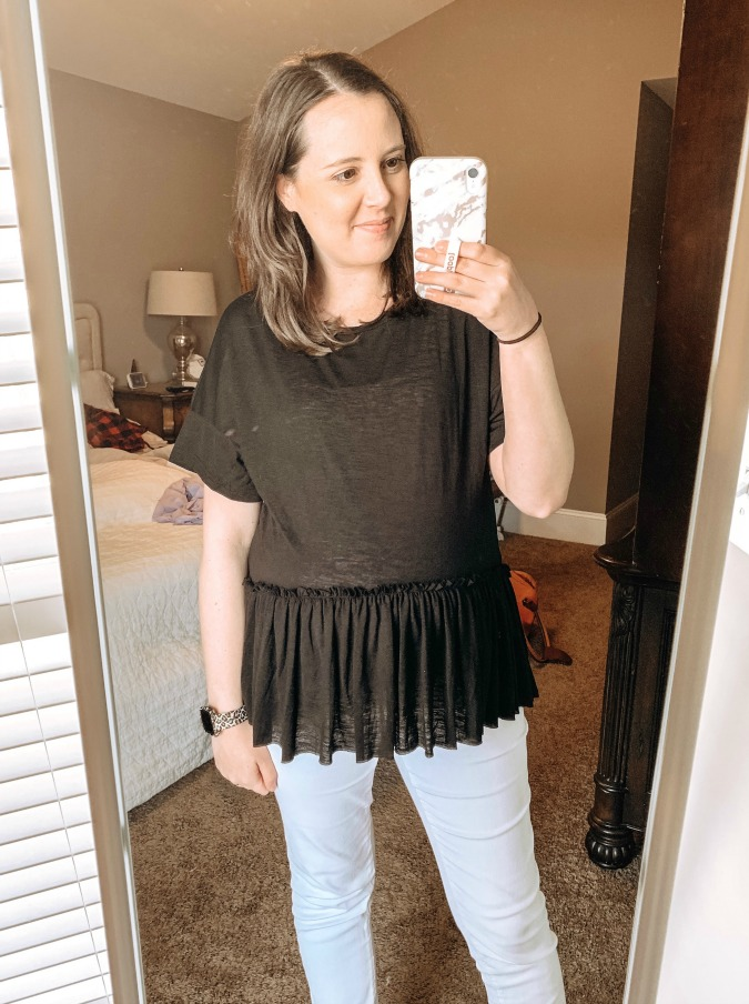 Amazon Try On March Peplum Top