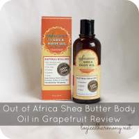 Out of Africa Shea Butter Body Oil in Grapefruit Review