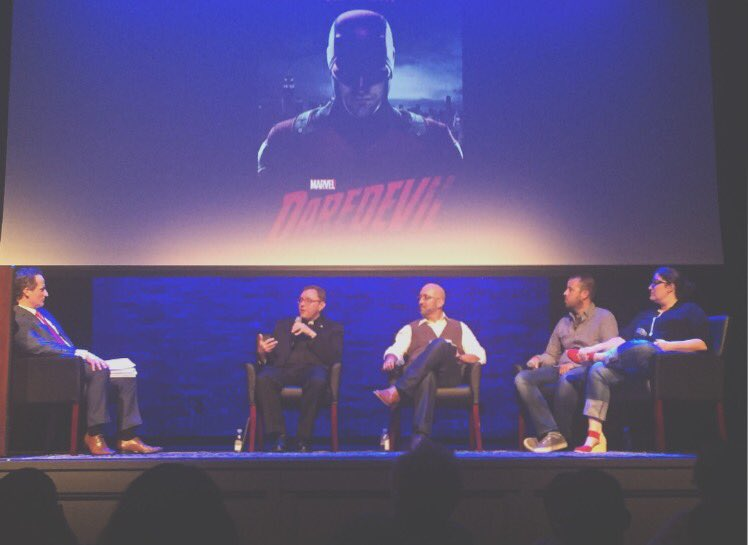 Picture from  @MattPana @SheenCenter! #Daredevil