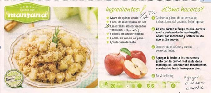 Quinoa con Manzana
