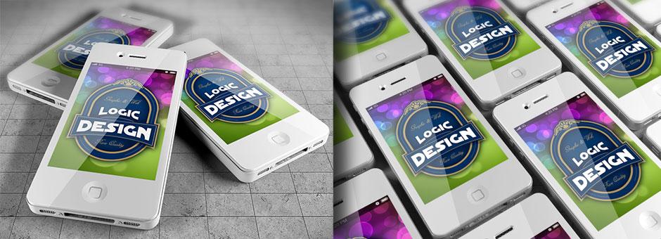 smart phones mock up iphone details