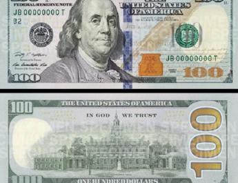 new 100 dollar USD