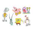 Spongebob Squarepants cartoon vector logo