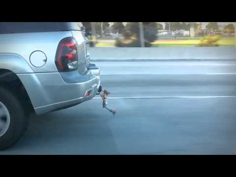 A Great And Funny Toy Story Car Attachment - Hang on Woody!