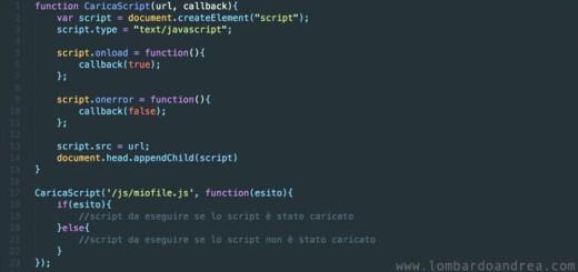 Caricare File JavaScript Dinamicamente
