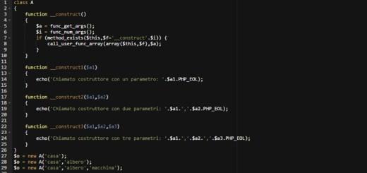 Costruttori multipli in classe php