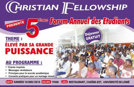 Christian Fellowship organise la semaine de grand impact 2015