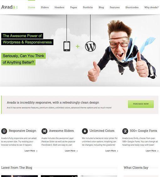 Avada - Mejores temas de WordPress