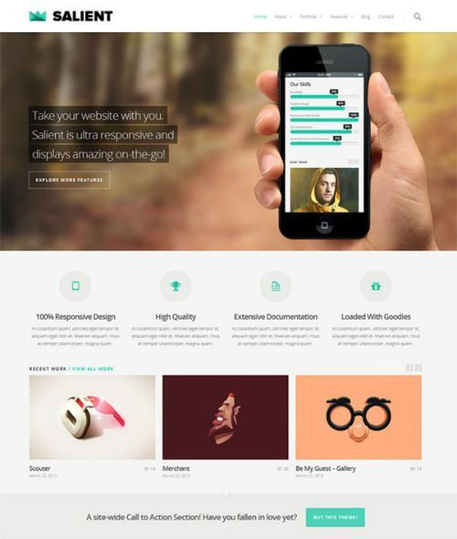 Salient - Tema WordPress Portafolio