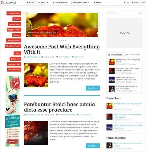 Sensational Theme -Tema WordPress para periódicos y revistas