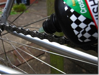 Bicycle chain lubrication