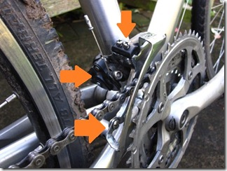 Bicycle lubrication of the front mech
