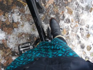 Fur-lined Boots, Boden dress and Bspoke Jacket