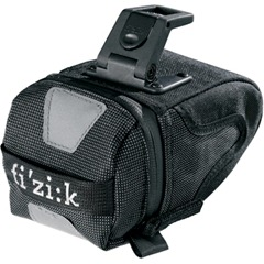 Black design Fizik saddle bag in medium size