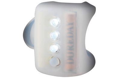 The Knog Gekko light in white product shot