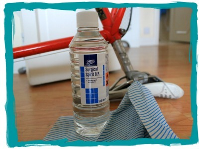 Surgical spirit used for cleaning bike