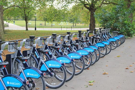 Boris bike cycle hire scheme in hyde park