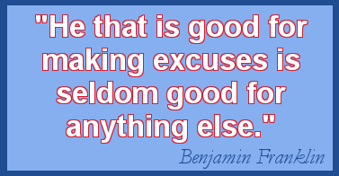 Excuses quote