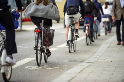 Cyclists in Enfield